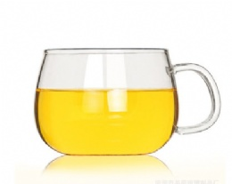 Glass handle cup 300ml