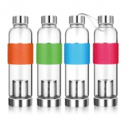 Promotional 500ml Glass Water Bottle With filter