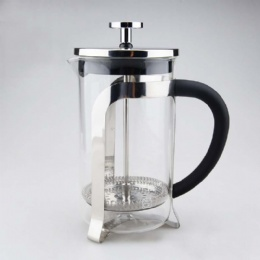 1Liter Custom Borosilicate Glass Stainless Steel French Press